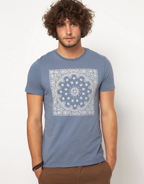 Image 1 ofASOS T-Shirt With Bandana Print