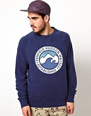 Penfield Sweatshirt with Sea and Mountain Print