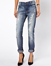 Mango Destroy Wash Boyfriend Jean