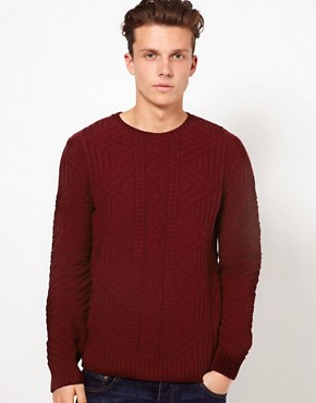 Image 1 ofASOS Cable Crew Neck Jumper