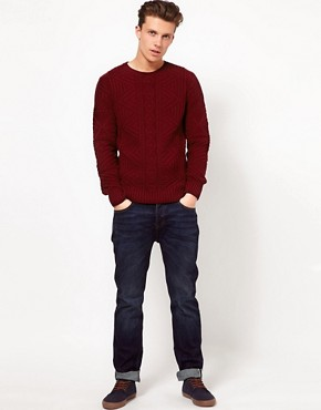 Image 4 ofASOS Cable Crew Neck Jumper