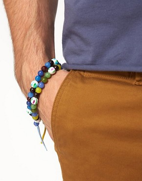 Image 3 of ASOS 2 Pack Bright Multi Bead Bracelet Pack