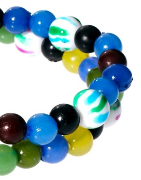 Image 4 of ASOS 2 Pack Bright Multi Bead Bracelet Pack