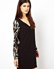 Warehouse Deco Sequin Shift Dress