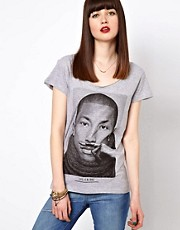 Eleven Paris  Pharrell Williams Moustache  T-Shirt mit Aufdruck