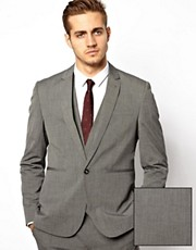 ASOS Slim Fit Suit Jacket in Mid Gray
