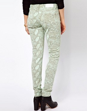 Image 2 ofGlamorous Snake Print Skinny Jeans