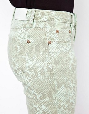 Image 3 ofGlamorous Snake Print Skinny Jeans