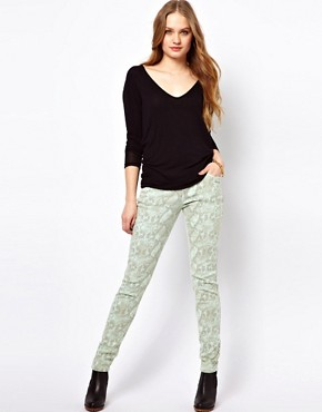 Image 4 ofGlamorous Snake Print Skinny Jeans