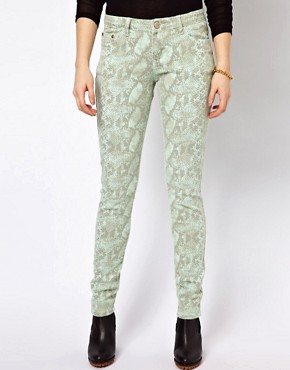 Image 1 ofGlamorous Snake Print Skinny Jeans