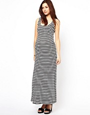 New Look Maternity Stripe Jersey Maxi Dress