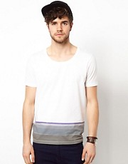 ASOS  T-Shirt mit Streifensaum