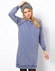 ASOS Sweat Dress In Acid Wash