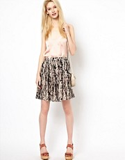 BA&amp;SH Full Skirt with Button Front Detail