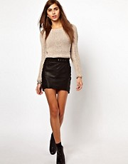 Very By Vero Moda Leather Skirt