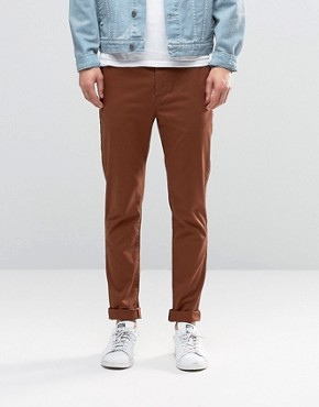 ASOS Skinny Chinos In Dark Brown