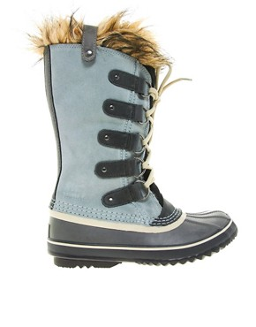 Image 4 ofSorel Joan of Arctic Grey Faux Fur Cuff Boots