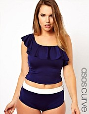 ASOS CURVE Exclusive Contrast Tankini Top