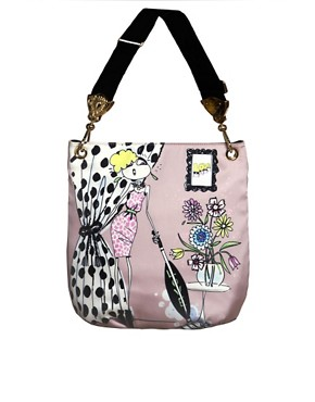 Image 1 ofLove Moschino Pink Satin Print Bag