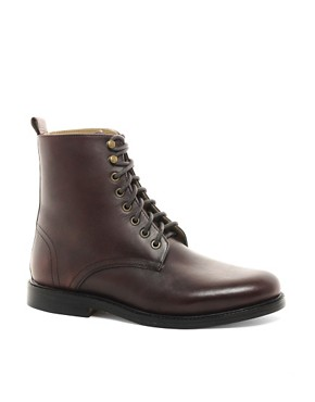 Image 1 ofASOS Leather Boots With Leather Sole