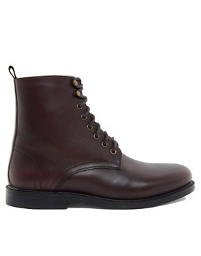 Image 4 ofASOS Leather Boots With Leather Sole