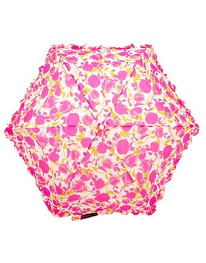 Image 2 ofLulu Guinness Superslim Rose Print Umbrella