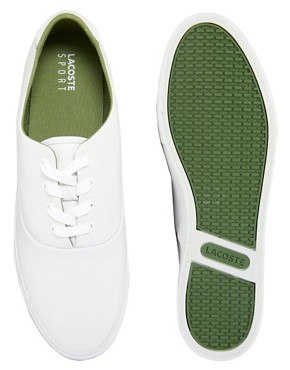 Image 2 ofLacoste Imatra Perf Leather Plimsolls