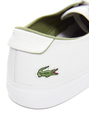 Image 3 ofLacoste Imatra Perf Leather Plimsolls