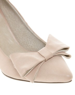 Image 4 ofFaith Crobon Mid Heel Bow Court Shoes