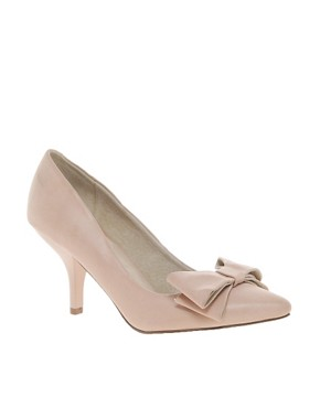 Image 1 ofFaith Crobon Mid Heel Bow Court Shoes