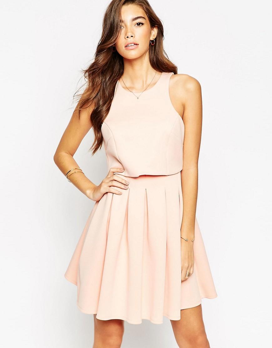 Image 1 ofASOS Debutante Mini With Crop Top Dress