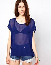 American Vintage Fine Jersey Top in Cashmere Mix