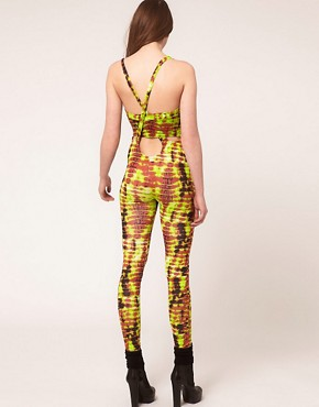 Image 2 ofASOS Unitard In Mex Tex Tie Dye
