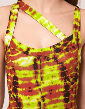 Image 3 ofASOS Unitard In Mex Tex Tie Dye