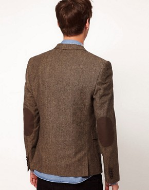 Image 2 ofASOS Slim Fit Tweed Blazer