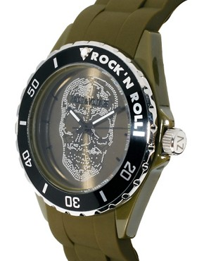 Image 3 ofZadig &amp; Voltaire Khaki Skull Watch