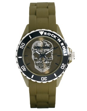 Image 1 ofZadig &amp; Voltaire Khaki Skull Watch