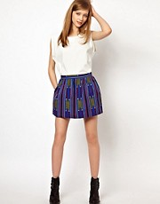 Les Prairies De Paris Pairs Paris Skirt in Africa Print