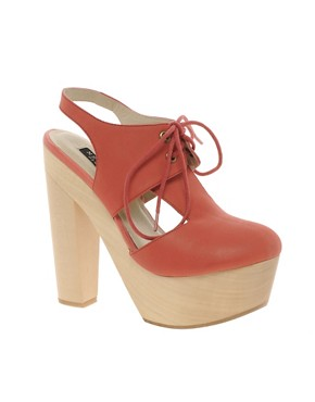 Image 1 ofMesseca Maru Lace Up Heeled Shoes