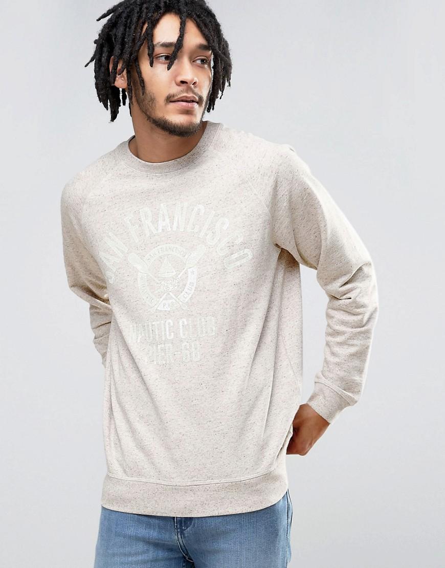 Esprit Crew Neck Sweatshirt with San Fran Print - 260 grey
