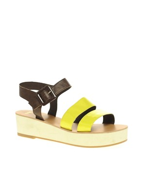 Image 1 ofASOS VINNIE Flatforms with Thick Straps