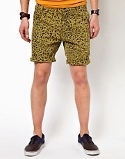 Suit Leopard Print Chino Shorts