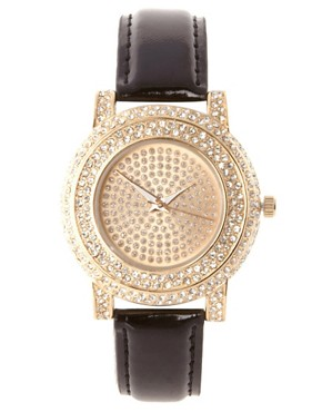 Image 1 ofRiver Island Black PU Watch