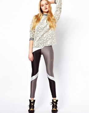 Image 1 ofNike Block Print Leggings