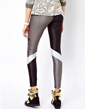 Image 2 ofNike Block Print Leggings