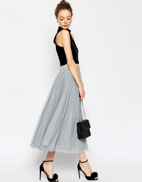 ASOS WEDDING Tulle Prom Skirt with Multi Layers