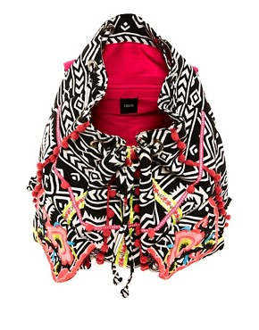 Image 2 ofASOS Floral Weave Backpack