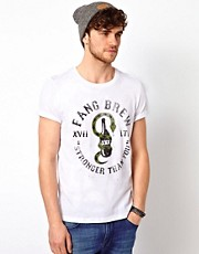 ASOS T-Shirt With Fang Brew Print