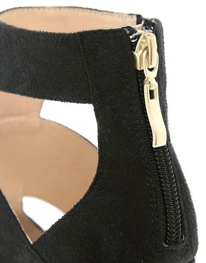 Image 3 ofRiver Island Eager Black Strappy Platform Wedges