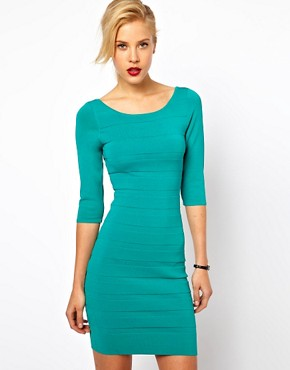 Image 1 ofMango Bodycon Scoop Back Dress